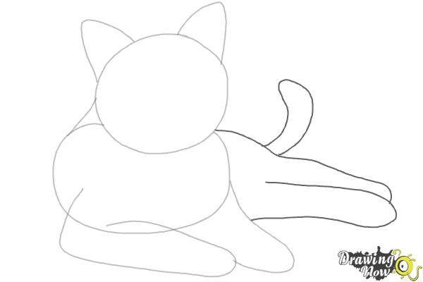 How to Draw a Cat - Step 4
