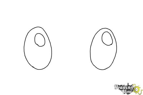 How to Draw Chibi Eyes (Ver 2) - Step 1