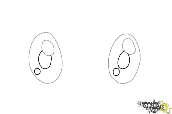 How to Draw Chibi Eyes (Ver 2) - Step 2