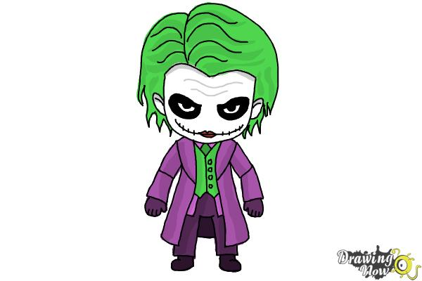 How to Draw Chibi Joker from Batman | DrawingNow
