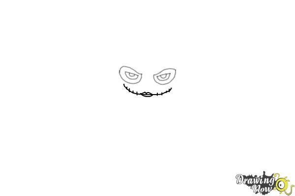 How to Draw Chibi Joker from Batman - Step 2