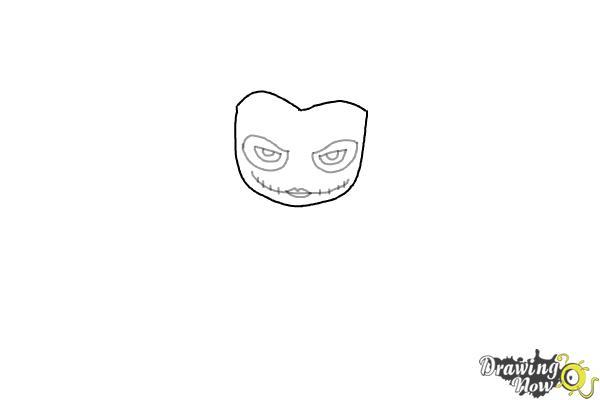 How to Draw Chibi Joker from Batman - Step 3
