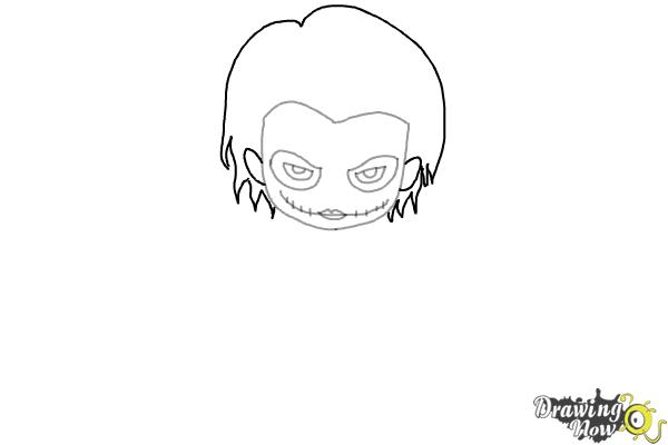 How to Draw Chibi Joker from Batman - Step 4