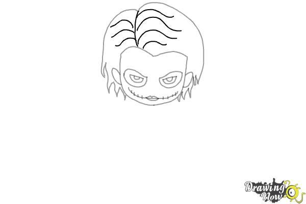 How to Draw Chibi Joker from Batman - Step 5