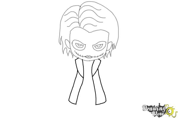 How to Draw Chibi Joker from Batman - Step 6