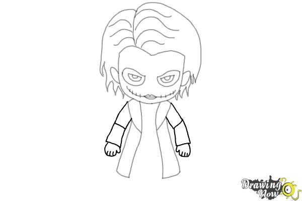 How to Draw Chibi Joker from Batman - Step 7