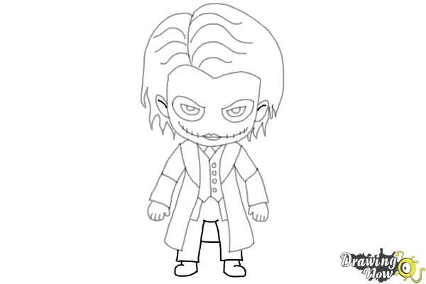 How to Draw Chibi Joker from Batman - Step 9