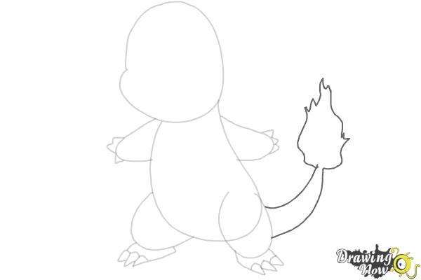 How to Draw Pokemon - Charmander - Step 4