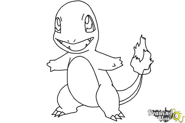 How to Draw Pokemon - Charmander - Step 8