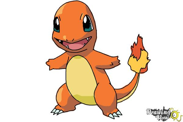 How to draw pokemon charmander step 9