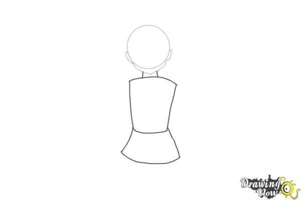 How to Draw Anime Girl - Step 2
