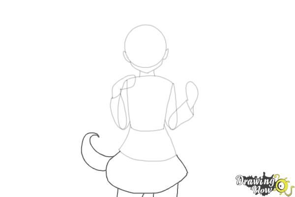 How to Draw Anime Girl - Step 4