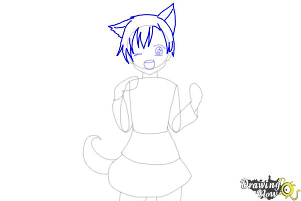 How to Draw Anime Girl - Step 6