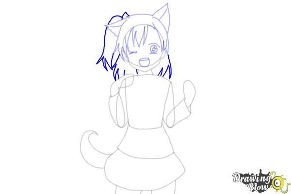 How to Draw Anime Girl - Step 7