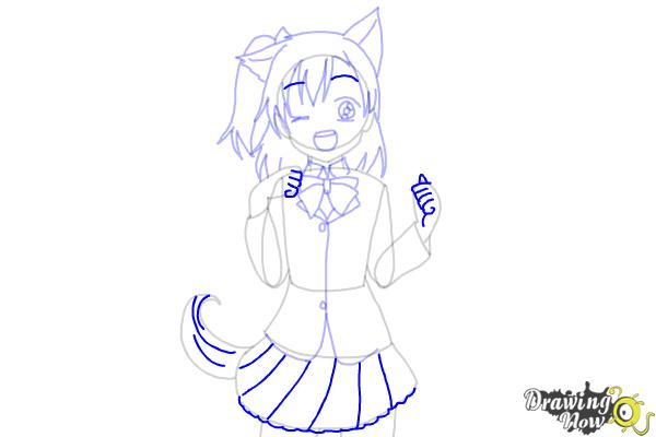 How to Draw Anime Girl - Step 9