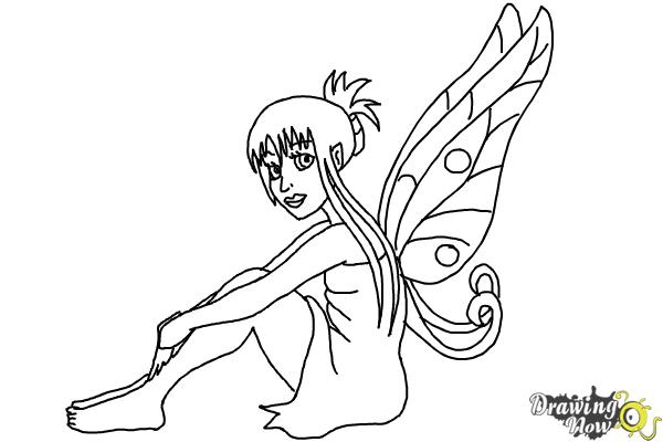 How to Draw a Fairy (Ver 2) - Step 9