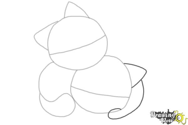 How to Draw Chibi Cats - Step 3
