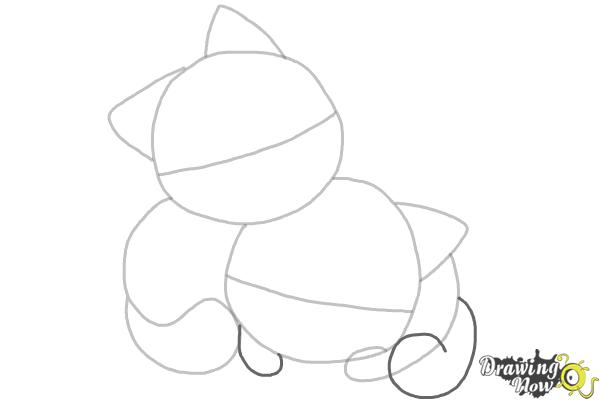 How to Draw Chibi Cats - Step 4