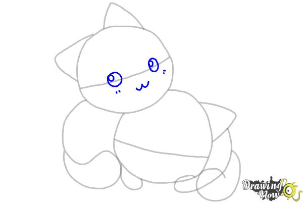 How to Draw Chibi Cats - Step 5