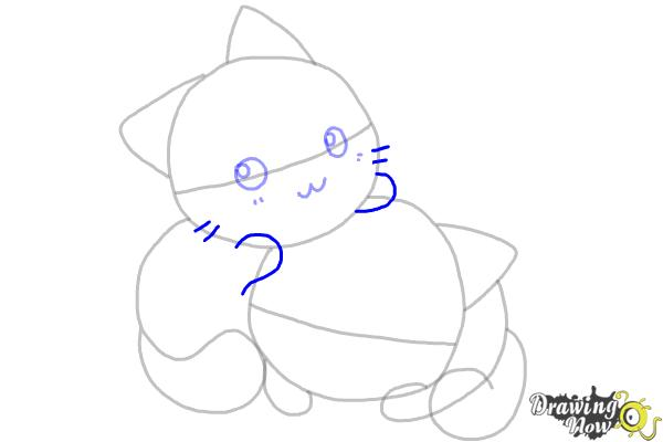 How to Draw Chibi Cats - Step 6