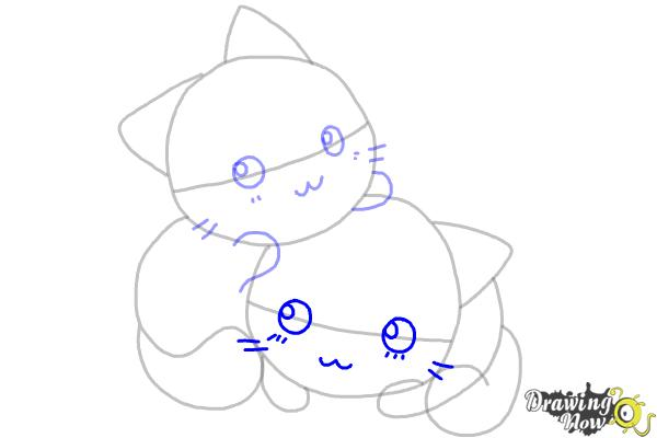 How to Draw Chibi Cats - Step 7