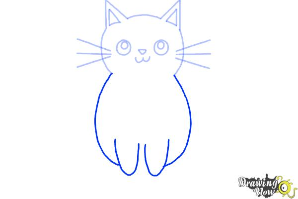 How to Draw a Kitten (Super Easy) - Step 6