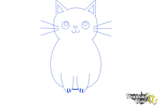 How to Draw a Kitten (Super Easy) - Step 7