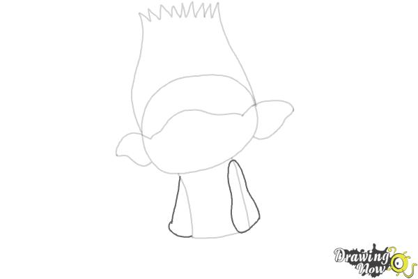 How to Draw Branch from Trolls Movie - Step 4
