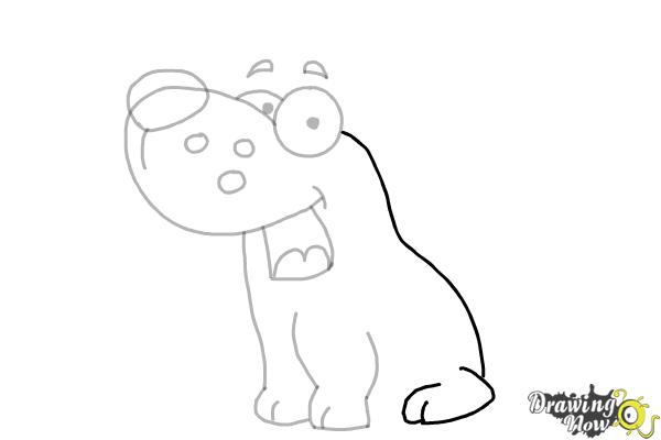 How to Draw a Cute Puppy - Step 6
