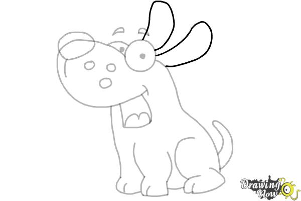 How to Draw a Cute Puppy - Step 8