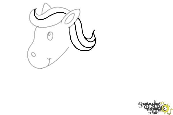 How to Draw a Horse for Kids (9 easy steps) - Step 5