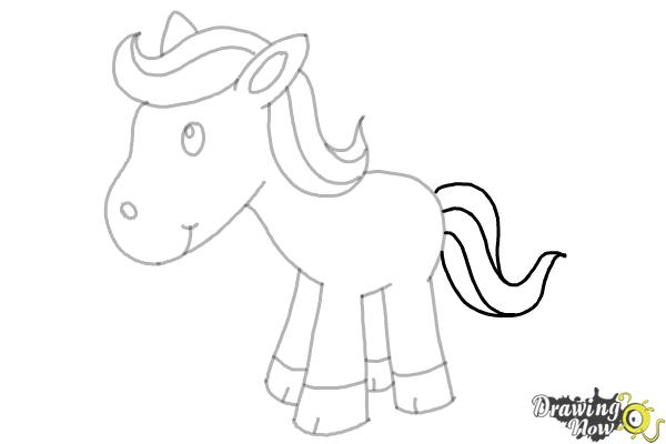 How To Draw A Horse For Kids 9 Easy Steps Drawingnow