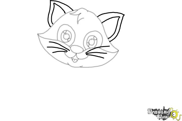 How to Draw a Cartoon Cat (Ver 2) - Step 6