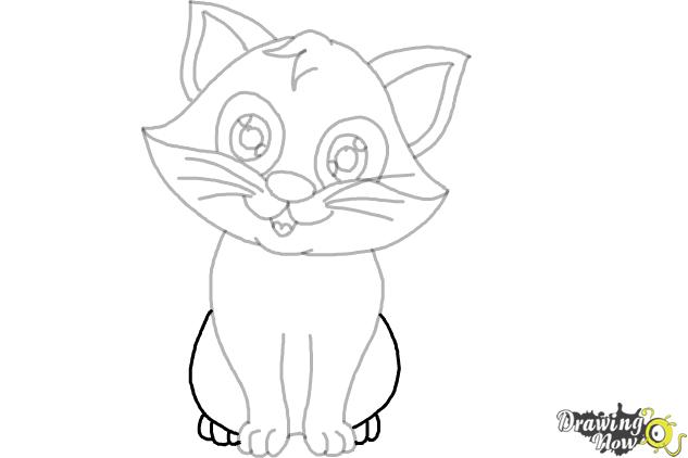 How to Draw a Cartoon Cat (Ver 2) - Step 8