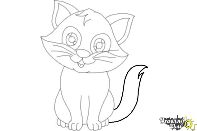 How to draw a cartoon cat ver 2 step 9