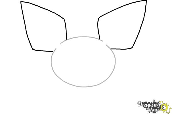 How to Draw Pokemon - Pichu - Step 2