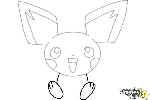 How to Draw Pokemon - Pichu - Step 6