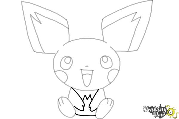 How to Draw Pokemon - Pichu - Step 7