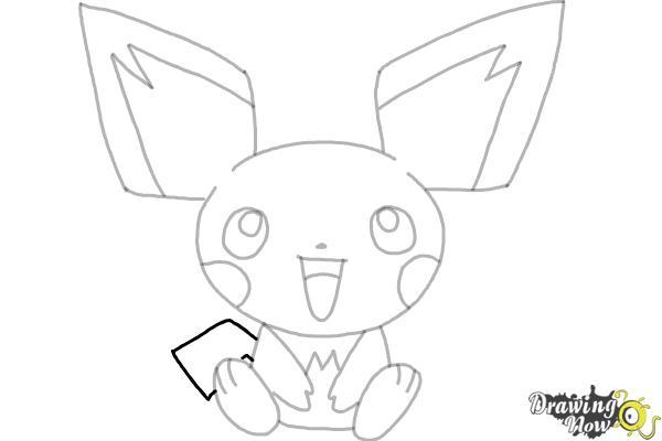 How To Draw Pokemon Pichu Drawingnow