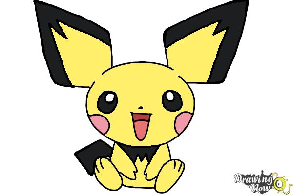 How to draw pokemon pichu step 9
