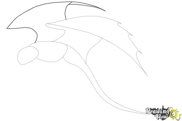 How to Draw a Dragon Step by Step - Step 3