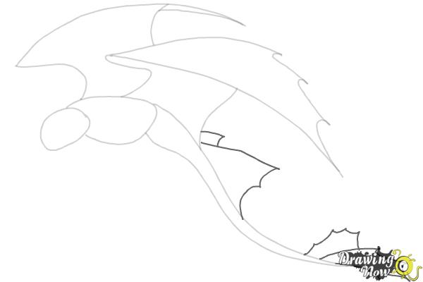 How to Draw a Dragon Step by Step - Step 4