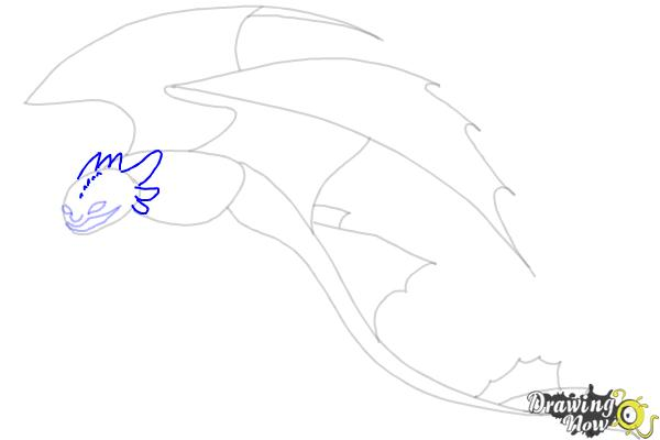 How to Draw a Dragon Step by Step - Step 6
