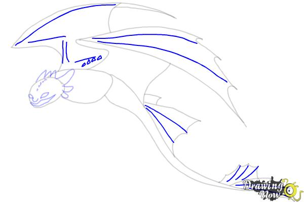 How to Draw a Dragon Step by Step - Step 7