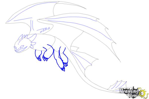 How to Draw a Dragon Step by Step - Step 8