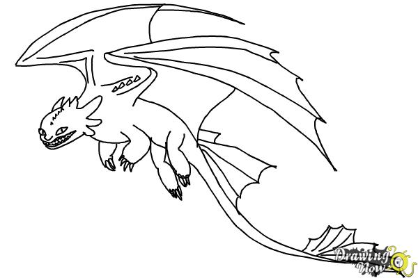How To Draw A Dragon Step By Step Drawingnow