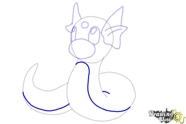 How to Draw Pokemon - Dratini - Step 10
