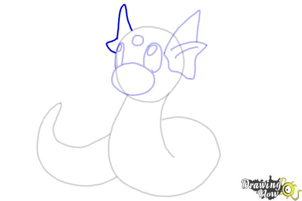 How to Draw Pokemon - Dratini - Step 9