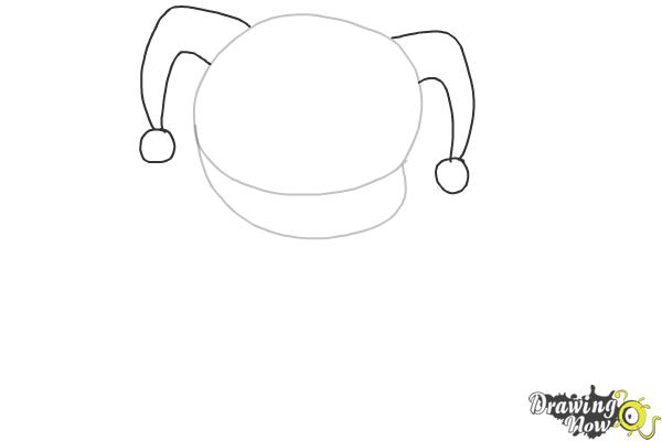How to Draw Chibi Harley Quinn from Suicide Squad - Step 2