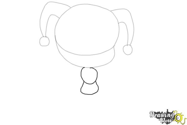How to Draw Chibi Harley Quinn from Suicide Squad - Step 3